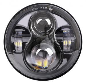 "China Energy Saving 80 W Round Jeep Wrangler Jk Led Headlights , 7"" Moto Led Projector Headlamps wholesale"