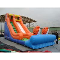 China Rotating Large Inflatable Slide With Inflatable Trampoline Jumping Bouncer wholesale