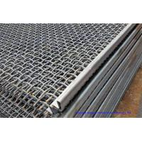 China Hooked Vibrating Sieve Screen Mesh SUS304 Crimped Customized For Mining / Quarry wholesale