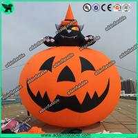 China 3M Party Inflatable Pumpkin / Halloween Inflatables With Smiling Face wholesale
