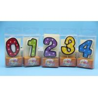 China Colorful Children's Birthday Candles Number 0-9 , Custom Cake Candles For Celebrate wholesale
