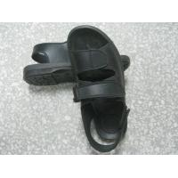 China Hard Fold Black ESD Anti Static Shoes Wear Resistant For Electronics Fields wholesale