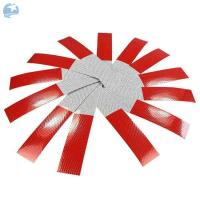 China Micro Glass Beads DOT Reflective Tape 2 X 18 Red / White  Stripped UV Resist Waterproof wholesale