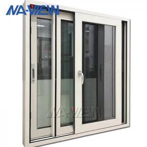 China Powder Coated Aluminium Sliding Windows Horizontal With Mosquito Net wholesale