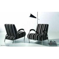China Living Room Leather Modern Upholstered Chairs , Comfortable Fabric Arm Chairs on sale
