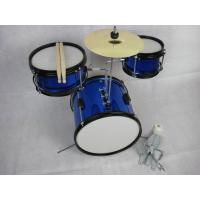 China Blue 3 Piece Acoustic Kids Drum Set Sound Percussion Drum Set MU-3KS wholesale