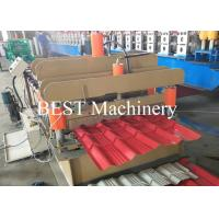 China Color Steel Glazed Tile Making Machine PLC Control 4-6m/Min Speed wholesale