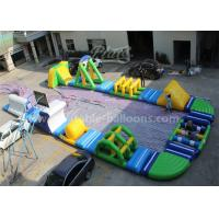 China Digital Printing Inflatable Aqua Park , Blow Up Water Park For 135 Persons wholesale