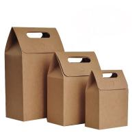 China Die Cut Personalized Brown Paper Bags High Tear Resistance Windowed Handle wholesale