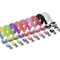 China Colorful Flat Cable USB2.0 AM to 30 pin Apple Connector wholesale