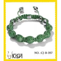 China Unique design green tresor paris 10mm beaded crystal bracelets for men, women wholesale