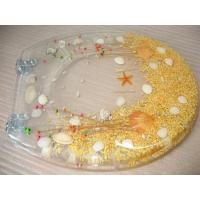 China dry flower poly resin toilet seat,17