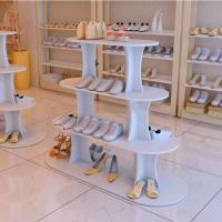 China Hot Sale Shoes Store Metal Or Wood Standing Display Stand For Shoes wholesale