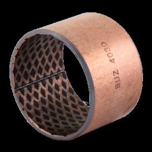 China Chemical Resistance Bronze Sleeve Bushings , Bronze Plain Bearing For Engineering Machine on sale