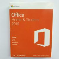 China Microsoft Office 2016 Home and Student  Package & Key Card & Product Key For windows- 1 PC License wholesale