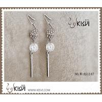 China Plating with rhodium / gold 925 fashion sterling silver gemstone earrings W-AS1147 wholesale