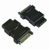 China SATA Adapter for 15-pin Male to Molex 4-pin Power Supply wholesale