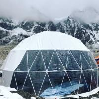 China Wide Application Custom Event Geodesic Dome Tents With Clear Sidewall wholesale