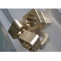 China Copper Cast Bronze Bearings Slide Block With Solid Lubricant Plugs wholesale