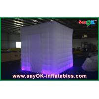 China 2 Doors Wedding Inflatable Advertising Products Foldable Photo Booth With Led Light on sale