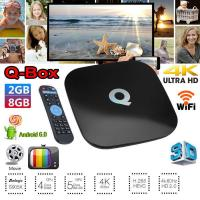 China Android TV Box 8GB 2GB 4K UHD WIFI KD 17.3 Android 6.0 Smart TV BOX Quad Core Audited Factory Supplier wholesale