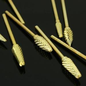 China Dental Lab 10 Gold-P Titanium Nitrate Carbide Burs Set wholesale