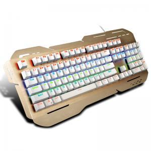 China Rainbow Light Up Ergonomic Gaming Keyboard With ABS Plastic Base wholesale