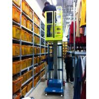 China Hydraulic Aluminum Alloy Aerial Order Picker Lift Semi - Electric 3.8m wholesale