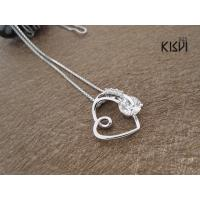 China 2012 hot selling fashion jewelry 925 sterling silver gemstone pendant with zircon W-VB1035 wholesale