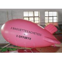 China Large Pink Inflatable Balloons Airship Model For Advertising Event / Airship Balloon Flying on sale