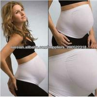 China Anti-Radiation Seamless Maternity Belly Bands White / Black With Nylon wholesale