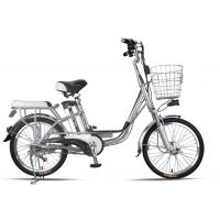 China 20 Inches Battery Powered Bicycles Sliver Commuter Electric Bike 48V8Ah wholesale