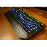 China LED Illuminated Ergonomic Wired Gaming keyboard Double Color Plastic Keycap wholesale