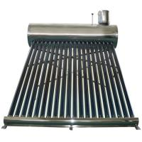 China stainless steel unpressurized rooftop vacuum tube solar water heater wholesale