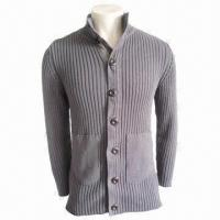China Unisex Sweater, Gray, Fashionable, Made of 100% Cotton, Men's Casual Wear, Women Casual Knitted Wear wholesale