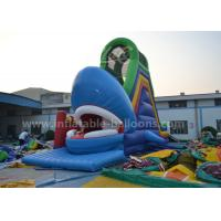 China Ocean Theme Inflatable Bouncer Slide Giant Whale Shaped With Bouncy 8M wholesale