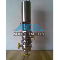 China Stainless Steel Pneumatic M21 Type Flow Diversion Valve Food Grade Handle Divert Seat Valve wholesale
