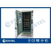 China IP55 Waterproof Galvanized Steel Green Outdoor Power Cabinet / Outdoor Telecom Enclosure With Cooling System wholesale
