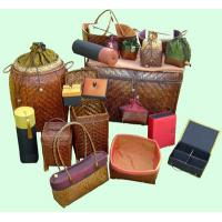China white leather wooden bin wholesale
