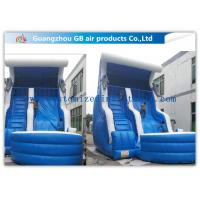 China Blue Color Inflatable Water Slides For Adults , Inflatable Swimming Pool Water Slide wholesale