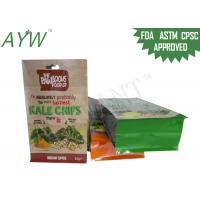 China Flat Bottom Custom Printed Food Bags S / M Size With Reusable Zip Lock on sale