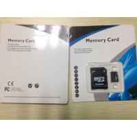 China PP / Plastic Memory Card Package Normal Size Plastic Blister Packaging For SD Card wholesale