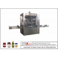 China 30-80 B/MIN Automatic 8 Heads Linear Servo Motor Control Piston Filling Machine For 0.5-5L wholesale