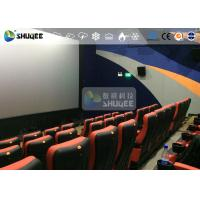 China CE Approval 4D Digital Cinema Equipment With Curved Screen / HD Projectors wholesale