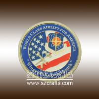 Buy cheap round commemorative coin with custom logo of America airlift from wholesalers