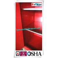 Quality 45 Gallon Red Flammable Goods Storage Cabinets Lockable For Paints And Inks for sale
