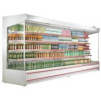 China Dairy Food Multideck Open Chiller , Drinks Open Display Refrigerator Showcase 3meters wholesale