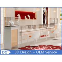 China OEM Easy Install Wood Glass Jewelry Display Cases / Jewelry Showcases For Retail Shop wholesale