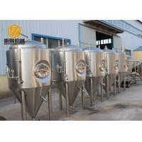 China Side Manhole Conical Beer Fermenter 5000L With Dual Zone Cooling Jacket wholesale