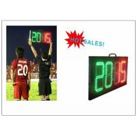China Digital Number 2 Color LED Soccer Substitution Board 2 Side IP62 Light Weight wholesale
